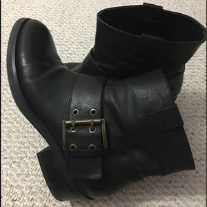 Nine West Women's Motorcycle Ankle Boots Size 10